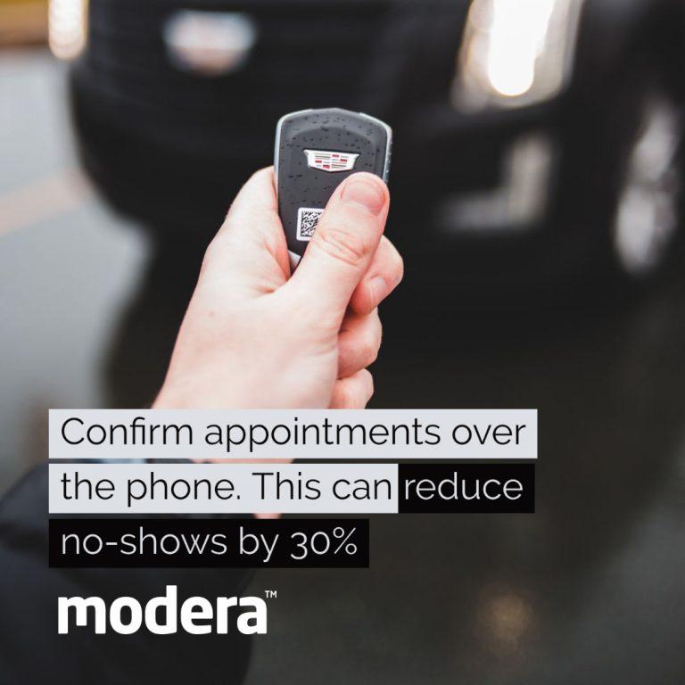 automotive dealership confirm phone