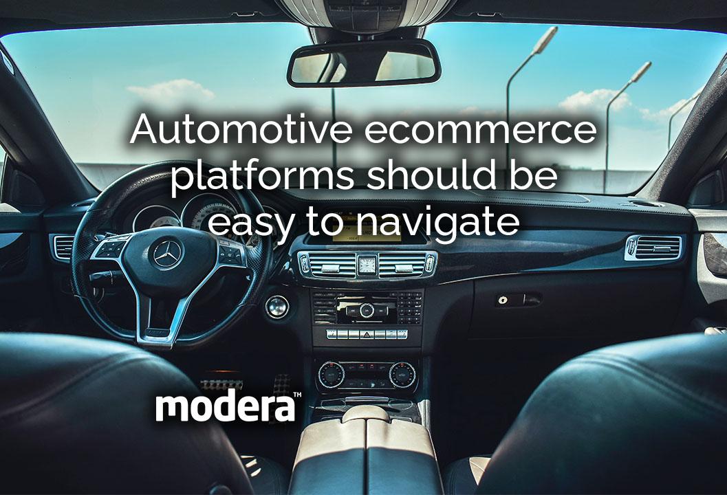 automotive ecommerce platforms should be easy to navigate