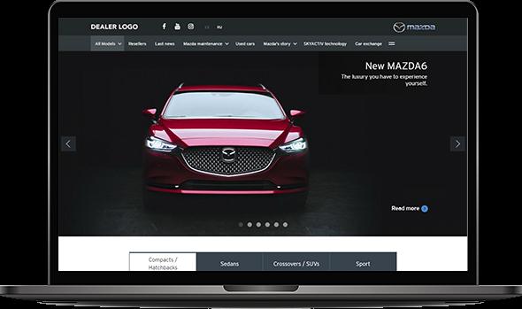 Image illustrating Mazda's website