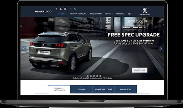 Image illustrating Peugeot's website
